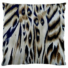 Tiger Background Fabric Animal Motifs Standard Flano Cushion Case (One Side)