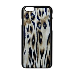 Tiger Background Fabric Animal Motifs Apple Iphone 6/6s Black Enamel Case