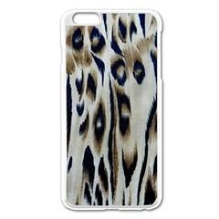Tiger Background Fabric Animal Motifs Apple Iphone 6 Plus/6s Plus Enamel White Case
