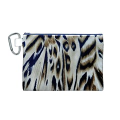 Tiger Background Fabric Animal Motifs Canvas Cosmetic Bag (M)
