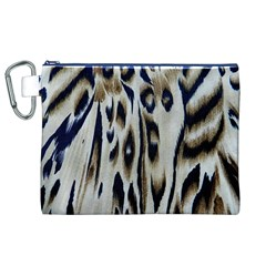 Tiger Background Fabric Animal Motifs Canvas Cosmetic Bag (XL)