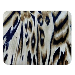 Tiger Background Fabric Animal Motifs Double Sided Flano Blanket (large)