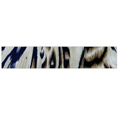 Tiger Background Fabric Animal Motifs Flano Scarf (large)