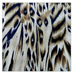 Tiger Background Fabric Animal Motifs Large Satin Scarf (square)