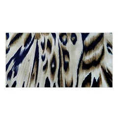 Tiger Background Fabric Animal Motifs Satin Shawl