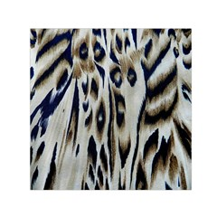 Tiger Background Fabric Animal Motifs Small Satin Scarf (Square)