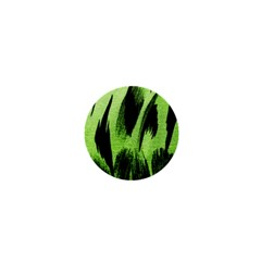 Green Tiger Background Fabric Animal Motifs 1  Mini Magnets