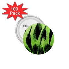 Green Tiger Background Fabric Animal Motifs 1 75  Buttons (100 Pack)