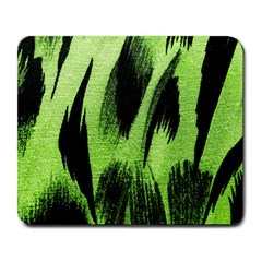 Green Tiger Background Fabric Animal Motifs Large Mousepads