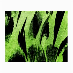 Green Tiger Background Fabric Animal Motifs Small Glasses Cloth
