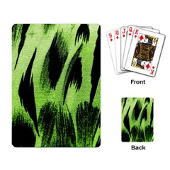 Green Tiger Background Fabric Animal Motifs Playing Card