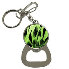 Green Tiger Background Fabric Animal Motifs Button Necklaces