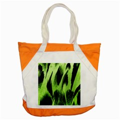 Green Tiger Background Fabric Animal Motifs Accent Tote Bag