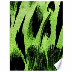 Green Tiger Background Fabric Animal Motifs Canvas 36  X 48