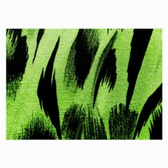 Green Tiger Background Fabric Animal Motifs Large Glasses Cloth