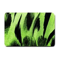 Green Tiger Background Fabric Animal Motifs Small Doormat