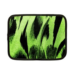 Green Tiger Background Fabric Animal Motifs Netbook Case (Small)
