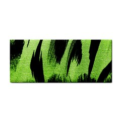 Green Tiger Background Fabric Animal Motifs Cosmetic Storage Cases