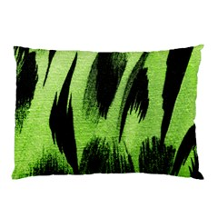 Green Tiger Background Fabric Animal Motifs Pillow Case