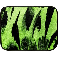 Green Tiger Background Fabric Animal Motifs Double Sided Fleece Blanket (mini)