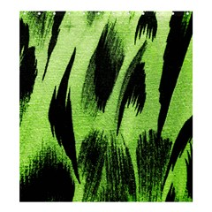Green Tiger Background Fabric Animal Motifs Shower Curtain 66  X 72  (large)