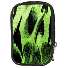 Green Tiger Background Fabric Animal Motifs Compact Camera Cases