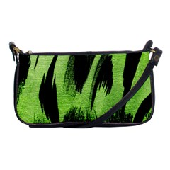 Green Tiger Background Fabric Animal Motifs Shoulder Clutch Bags