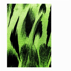 Green Tiger Background Fabric Animal Motifs Small Garden Flag (Two Sides)