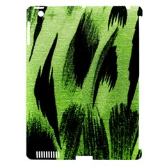 Green Tiger Background Fabric Animal Motifs Apple iPad 3/4 Hardshell Case (Compatible with Smart Cover)