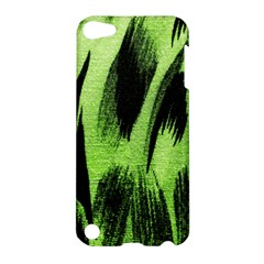 Green Tiger Background Fabric Animal Motifs Apple Ipod Touch 5 Hardshell Case