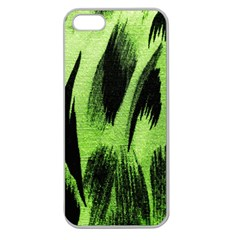 Green Tiger Background Fabric Animal Motifs Apple Seamless Iphone 5 Case (clear)