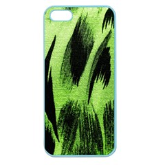 Green Tiger Background Fabric Animal Motifs Apple Seamless Iphone 5 Case (color)