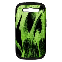 Green Tiger Background Fabric Animal Motifs Samsung Galaxy S Iii Hardshell Case (pc+silicone)