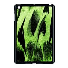 Green Tiger Background Fabric Animal Motifs Apple iPad Mini Case (Black)
