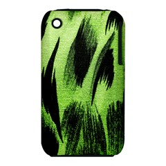 Green Tiger Background Fabric Animal Motifs iPhone 3S/3GS