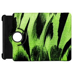 Green Tiger Background Fabric Animal Motifs Kindle Fire Hd 7