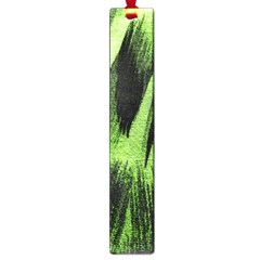 Green Tiger Background Fabric Animal Motifs Large Book Marks