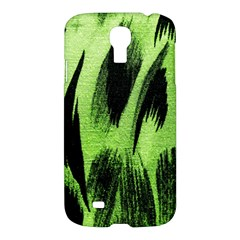 Green Tiger Background Fabric Animal Motifs Samsung Galaxy S4 I9500/I9505 Hardshell Case