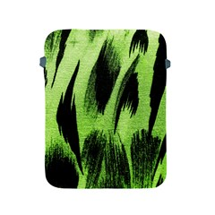 Green Tiger Background Fabric Animal Motifs Apple Ipad 2/3/4 Protective Soft Cases
