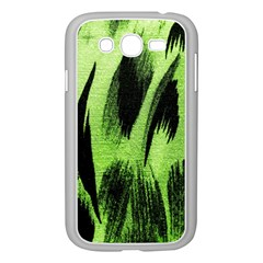 Green Tiger Background Fabric Animal Motifs Samsung Galaxy Grand DUOS I9082 Case (White)