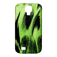 Green Tiger Background Fabric Animal Motifs Samsung Galaxy S4 Classic Hardshell Case (pc+silicone)