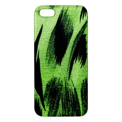 Green Tiger Background Fabric Animal Motifs Iphone 5s/ Se Premium Hardshell Case