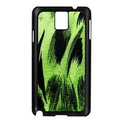 Green Tiger Background Fabric Animal Motifs Samsung Galaxy Note 3 N9005 Case (black)