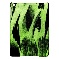 Green Tiger Background Fabric Animal Motifs iPad Air Hardshell Cases
