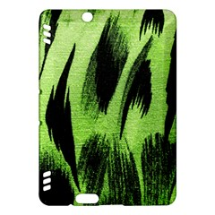 Green Tiger Background Fabric Animal Motifs Kindle Fire Hdx Hardshell Case