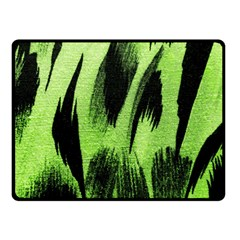 Green Tiger Background Fabric Animal Motifs Double Sided Fleece Blanket (small)