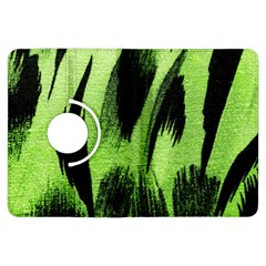 Green Tiger Background Fabric Animal Motifs Kindle Fire Hdx Flip 360 Case