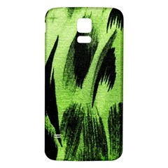 Green Tiger Background Fabric Animal Motifs Samsung Galaxy S5 Back Case (white)