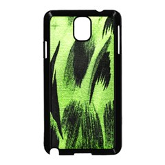 Green Tiger Background Fabric Animal Motifs Samsung Galaxy Note 3 Neo Hardshell Case (Black)