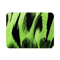 Green Tiger Background Fabric Animal Motifs Double Sided Flano Blanket (mini)
